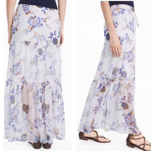 White House Black Market Dresses & Skirts - White House Black Market floral maxi skirt S